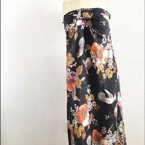 Zimmerman Silk Floral Strapless Maxi Dress 0